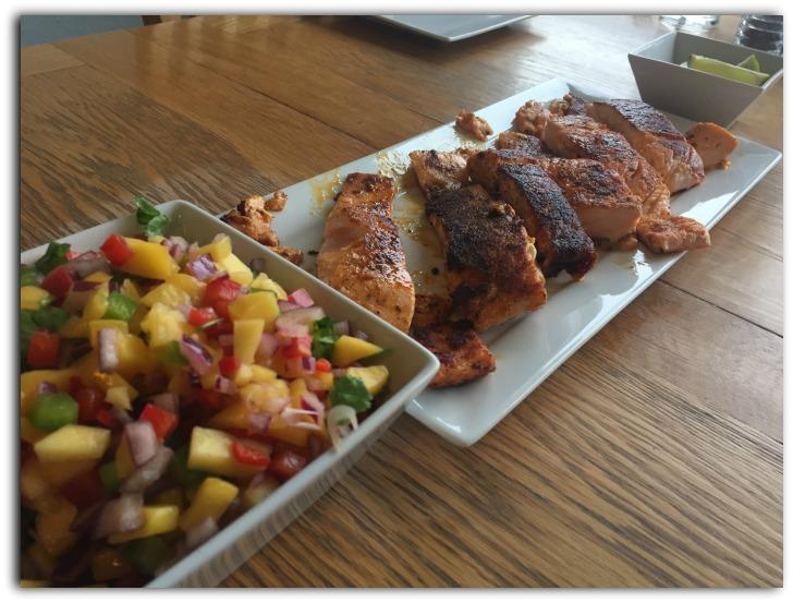 Salmon, Mango Salsa, and a Slice of Lime