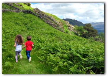 running through the hills near Beddgelert, North Wales